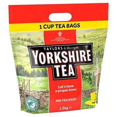 6x Yorkshire Tea One cup Teabags 600 per pack