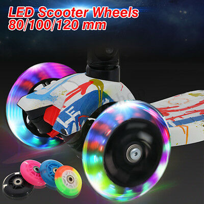 80-120mm LED Flash Light Up Wheel for Mini Micro Scooter with 2 ABED-7 Bearings