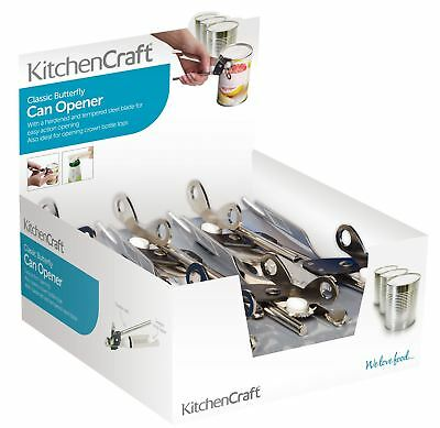 Set of 12 KitchenCraft Butterfly Style Can Openers