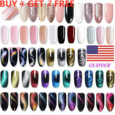 BORN PRETTY Multicolor UV Gel Nail Polish Set Topcoat Base Coat