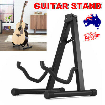 Folding Electric Acoustic Bass Guitar Stand A Frame Floor Rack Portable Holder
