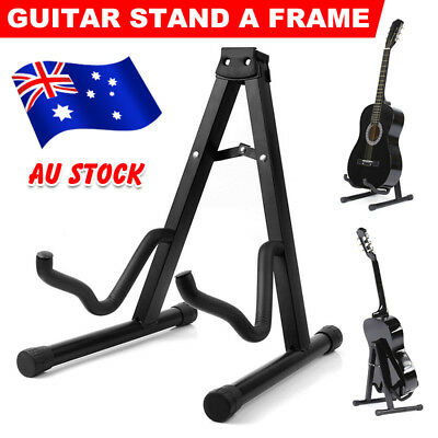 Portable Electric Acoustic Bass Guitar Stand Folding A Frame Floor Rack Holder