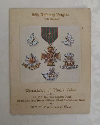 56th Infantry Brigade. 19th Division. Armistice Day 1918. King's Colour. WWI