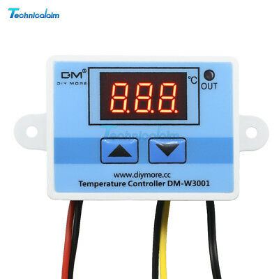 Digital LED Temperature Controller Thermostat Control Switch Probe DC 12V 10A