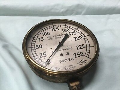 Antique Jas P Marsh San Francisco Water Meter Steampunk Brass Fire Protection