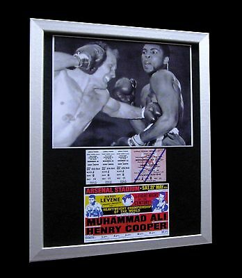 MUHAMMAD ALI+CASSIUS CLAY+Henry Cooper 1966+LTD+FRAMED+EXPRESS GLOBAL SHIPPING!!