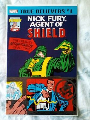 True Believers Strange Tales 135 & 141,1st app Nick Fury Agent of SHIELD, Kirby