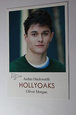 Aedan Duckworth (Hollyoaks) Signed Cast Card