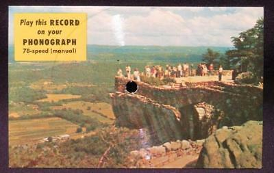 Rock City Gardens Lover's Leap Atop Lookout Mountains Vintage 78RPM Record Card