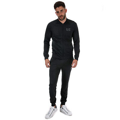 Mens Emporio Armani Ea7 Train Core Id Fz Tracksuit In Carbon