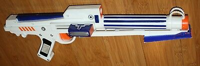 White Star Wars Clone Trooper Nerf Dart Gun Blaster Rifle Laser sight - works
