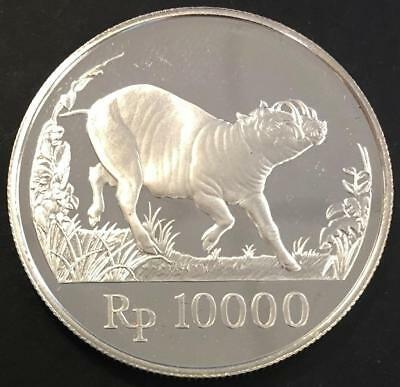 10000 Rupiah Proof Indonesia 1987  Silver coin