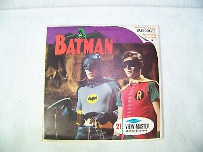 Vintage BATMAN 1966 TV Series 3 Reel View Master Set With Booklet Adam West HTF