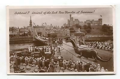 The Loch Ness Monster at Inverness - 1938 used postcard