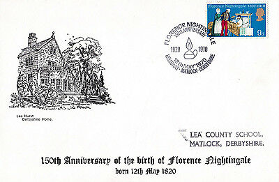 "Event Cover 1970 "" 150th Anniversary of Birth of Florence Nightingale""  - A716"