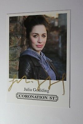 Julia Goulding (Coronation Street) Signed Cast Card