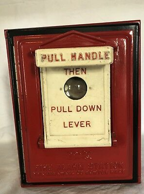 Vintage Fire Alarm Station Call Box Gamewell Co Newton Mass Novelty 10 Key Box