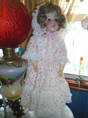 "Antique Doll Germany - Simon & Halbig 550 - Fully  Dressed - 23"" Tall - Germany"