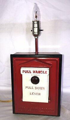 Vintage Fire Alarm Station Call Box Gamewell Co Newton Mass Novelty Table Lamp