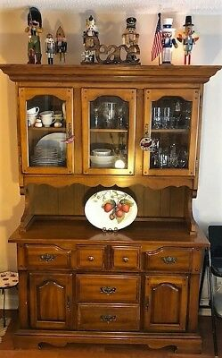 Vintage China Cabinet Hutch - Country fans sure to love!