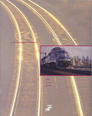 Conrail Consolidated Rail Corporation 1991 Annual Report  FREE SHIPPING