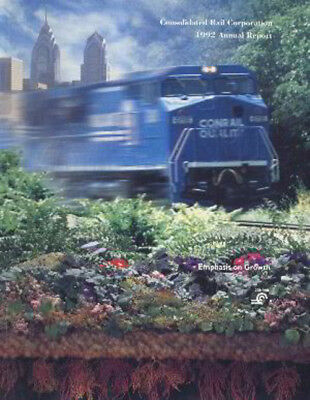 Conrail Consolidated Rail Corporation 1992 Annual Report FREE SHIPPING
