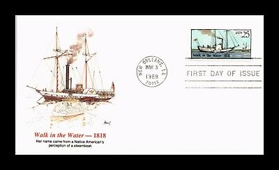 Dr Jim Stamps Us Cover Walk In The Water Steamboat Fdc Scott 2409