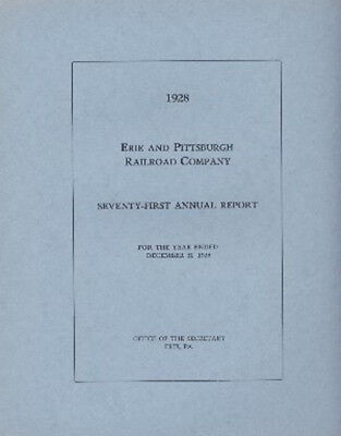 1928 Erie and Pittsburgh Railroad Company 71st Annual Report FREE SHIPPING