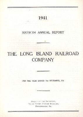 The Long Island Railroad Company 16th Annual Report FREE SHIPPING