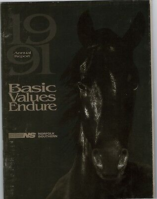 Norfolk Southern Annual Report 1991 FREE SHIPPING