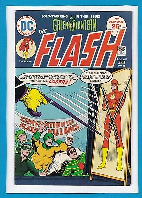The Flash #231_February 1975_Very Fine Minus_Green Lantern_Bronze Age Dc!