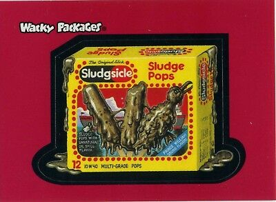 Wacky Packages Promo Sludge Pops Sticker / Card  2 of 3 BY TOPPS