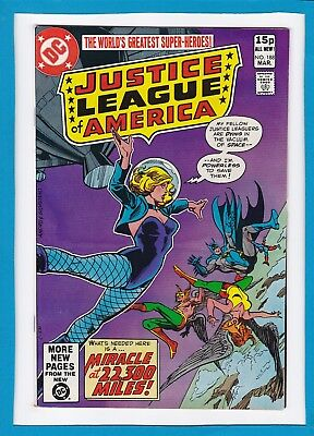"""Justice League Of America #188_Mar 1981_Very Good_""""miracle At 22,300 Miles""""_Uk!"""