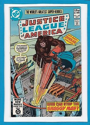 """Justice League Of America #186_Jan 1981_Vf_""""who Can Stop The Shaggy Man""""_Uk!"""