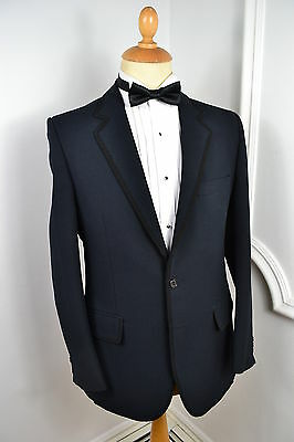VINTAGE 1970s GRENDALE 2 PIECE POLYESTER TUXEDO SUIT JACKET SMALL 38 REGULAR