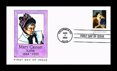 Dr Jim Stamps Us Cover Mary Cassatt Artist Fdc Hand Colored Lary Cachet
