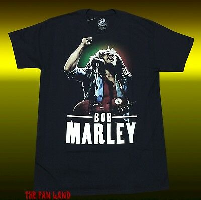 New Bob Marley Photo Rasta Reggae Mens Classic Vintage T-Shirt