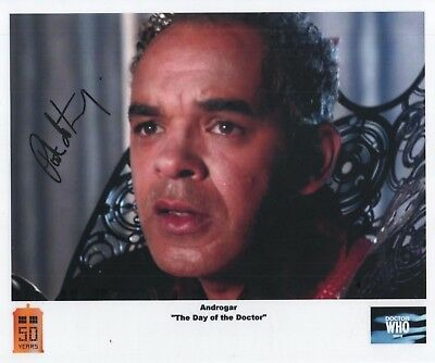"Doctor Who Auto Photo Print Peter De Jersey ""Androgar"""