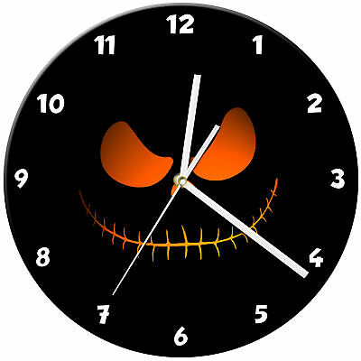 Halloween Spooky Kids Bedroom Glass Wall Clock Gift - 07