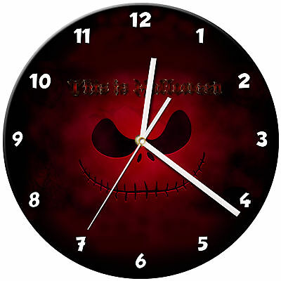 Halloween Spooky Kids Bedroom Glass Wall Clock Gift - 13