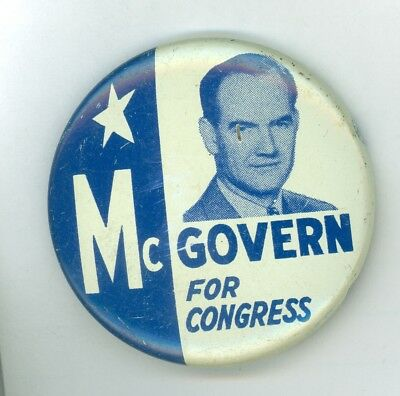 1956 Vintage George McGovern for Congress Political Campaign Pinback Button