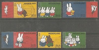 nederland 2370 aA-fA+2349a-c+2381-90 gestempeld  c.w.  €  16,10 complete series