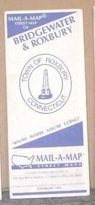 1996 Mail-A-Map Street City Map Bridgewater amd Roxbury Connecticut w/Local Ads