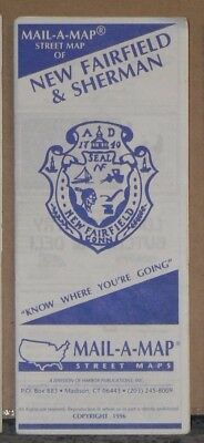 1996 Mail-A-Map Street City Map New Fairfield & Sherman Connecticut w Local Ads