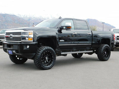 2016 Chevrolet Silverado 3500HD HIGH COUNTRY LIFTED CHEVY CREW CAB HIGH COUNTRY 4X4 DURAMAX DIESEL CUSTOM WHEELS TIRES ROOF
