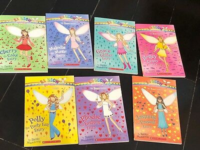 Rainbow Magic The Party Fairies complete set 7  Books  By Daisy Meadows