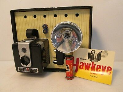 Vintage Hawkeye Brownie Flash Model Camera w/ Accessories Untested IOB