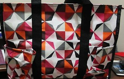 Thirty One Zip Top Organizing Utility Tote In Swirl Dot Nwt 2399