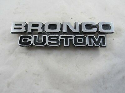 Vintage Original 1978 1979 Ford Bronco Custom Fender Emblem