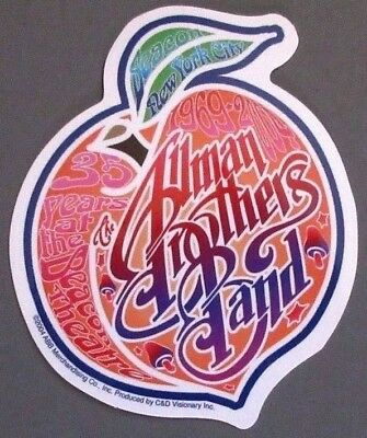 THE ALLMAN BROTHERS BAND beacon theatre peach STICKER decal eat a